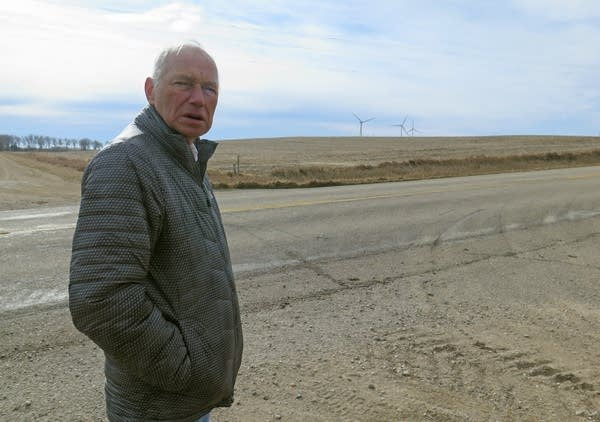 Jonathan Lengkeek in front of the proposed 4,000 cow dairy site.