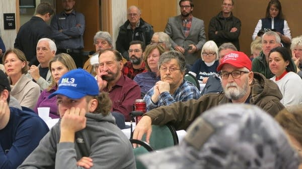 More than 100 people attended the town hall meeting.