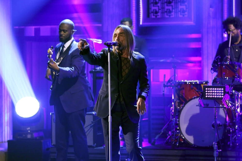 Iggy Pop performs on 'The Tonight Show Starring Jimmy Fallon'