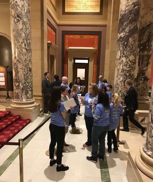 Members of the PANDAS/PANS Support of Minnesota meet with legislators.