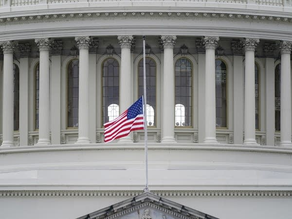 Flag at half-staff at the Capitol