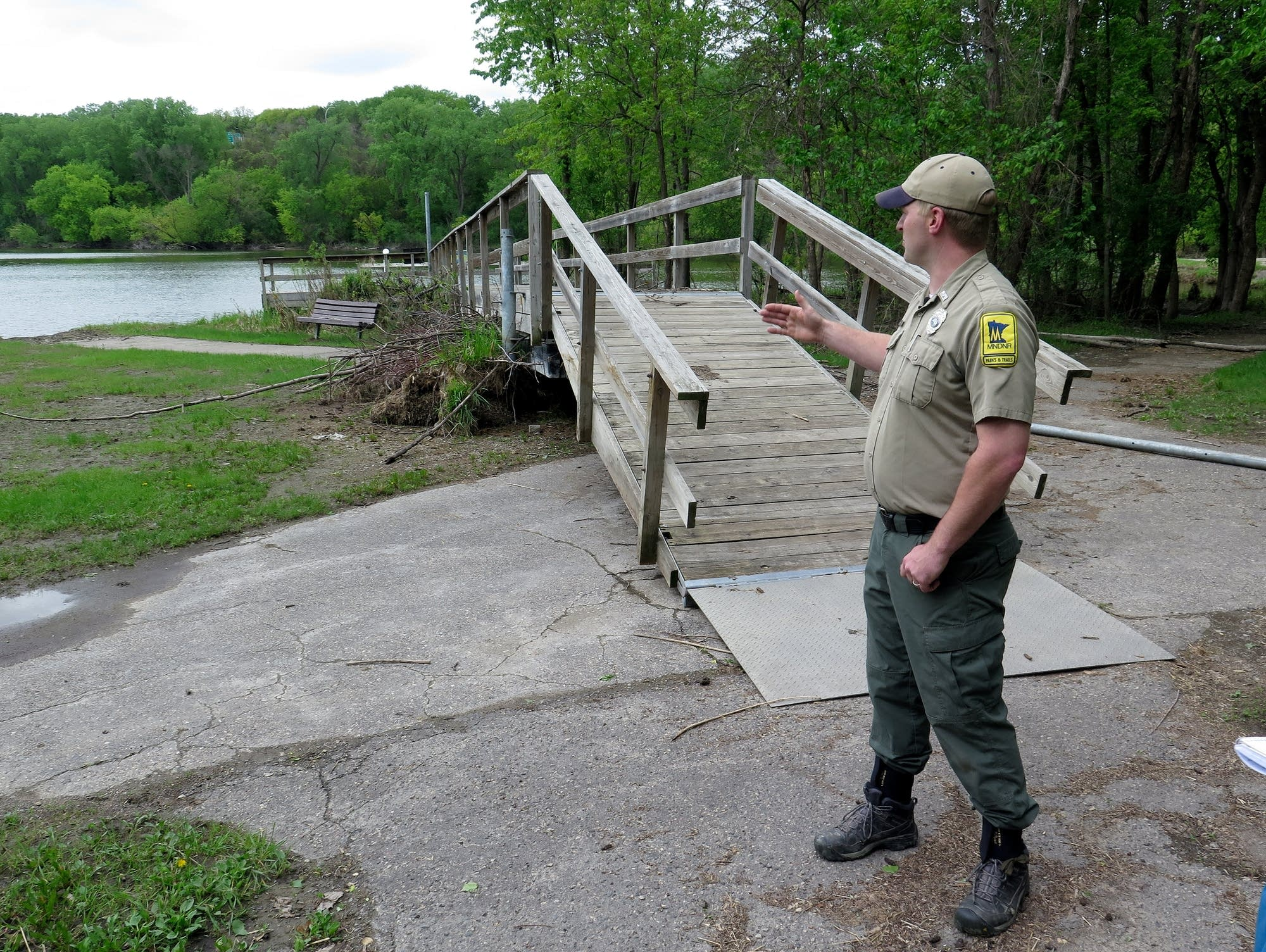Nick Bartels talks about the plan to get the dock back in the water.