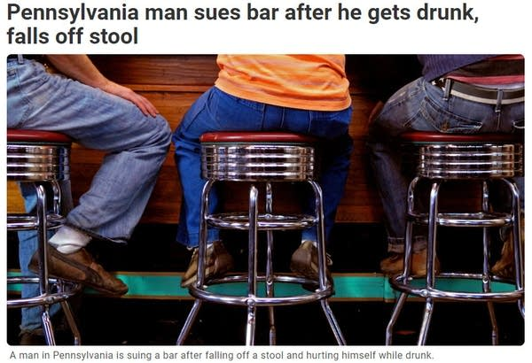 A photo Andrew took of bar stools is being used in a news story