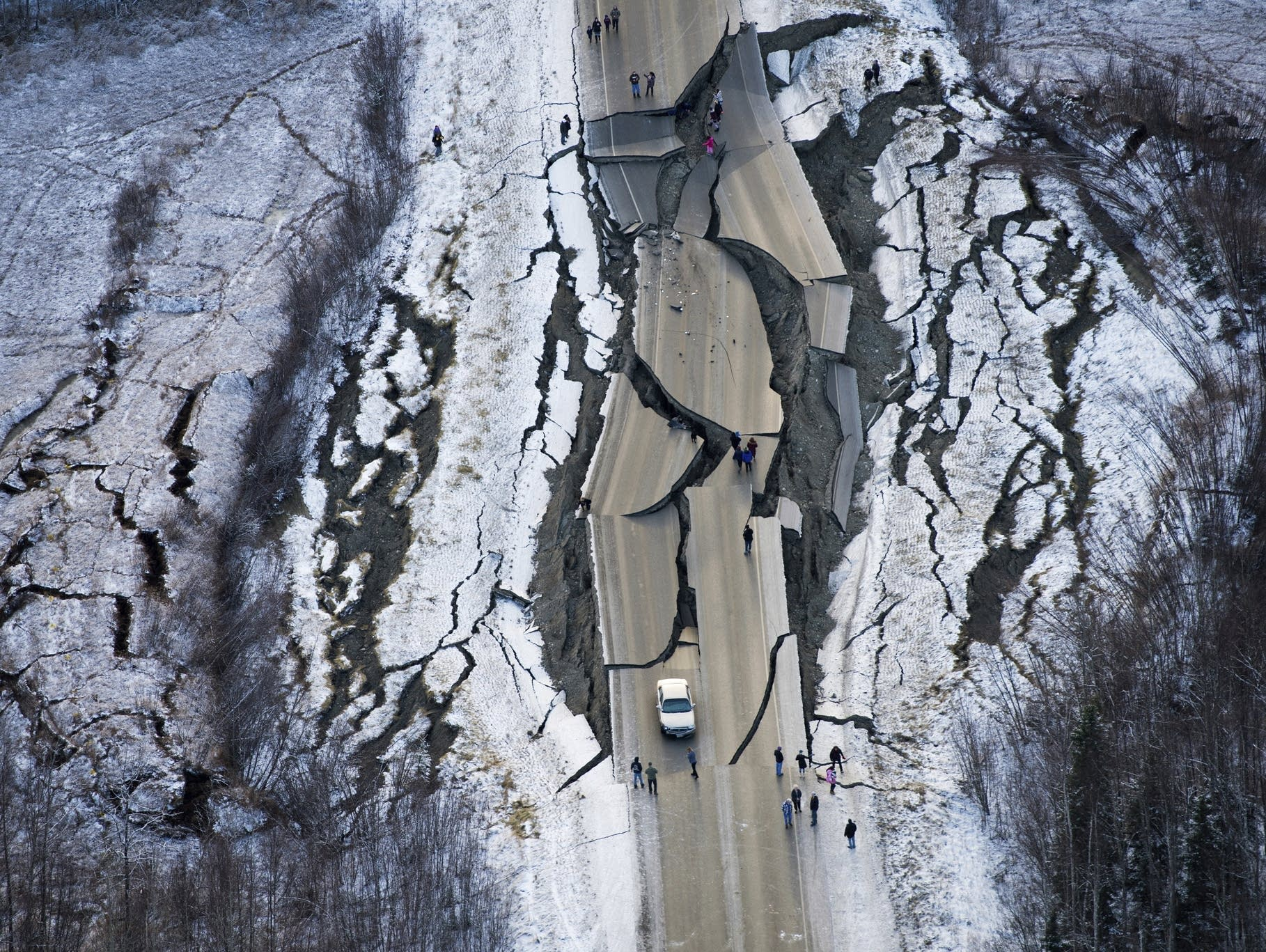 Alaska earthquake damage