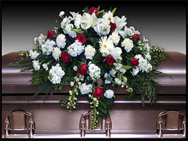 Traditional funeral casket