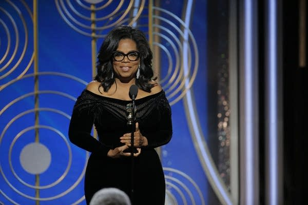 Oprah Winfrey accepts the 2018 Cecil B. DeMille Award.