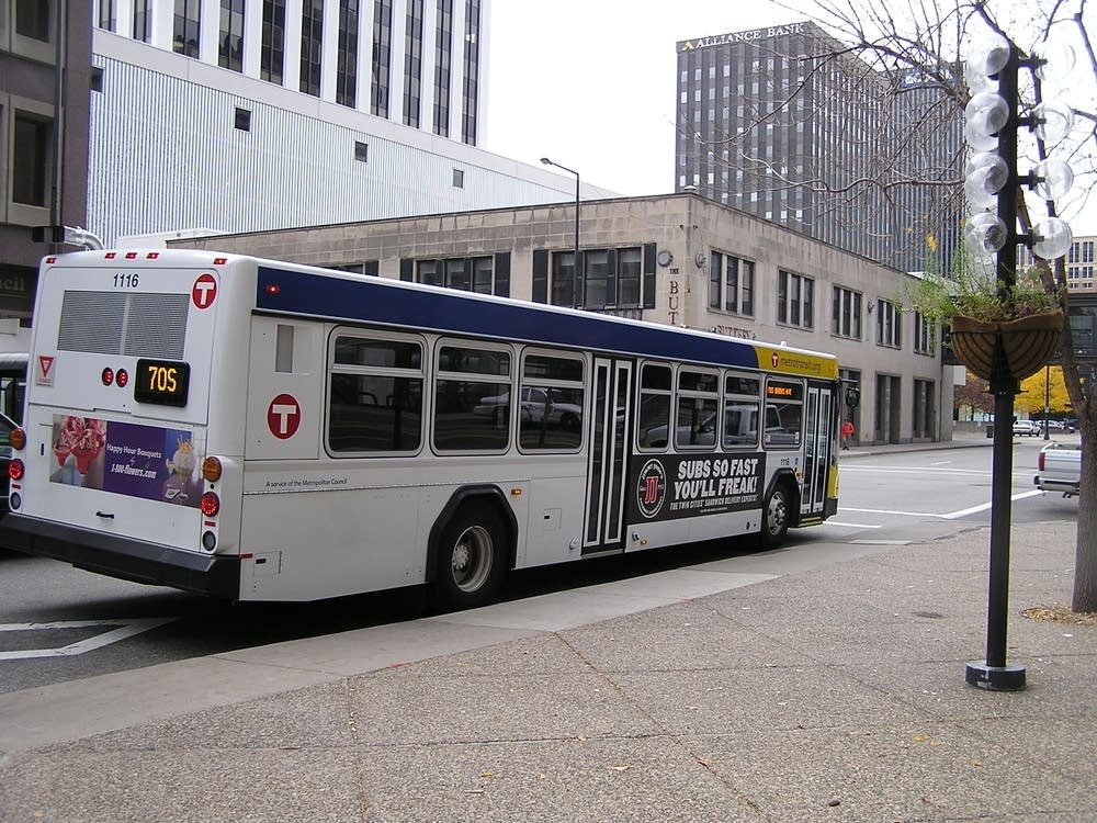 A MetroTransit bus in St. Paul