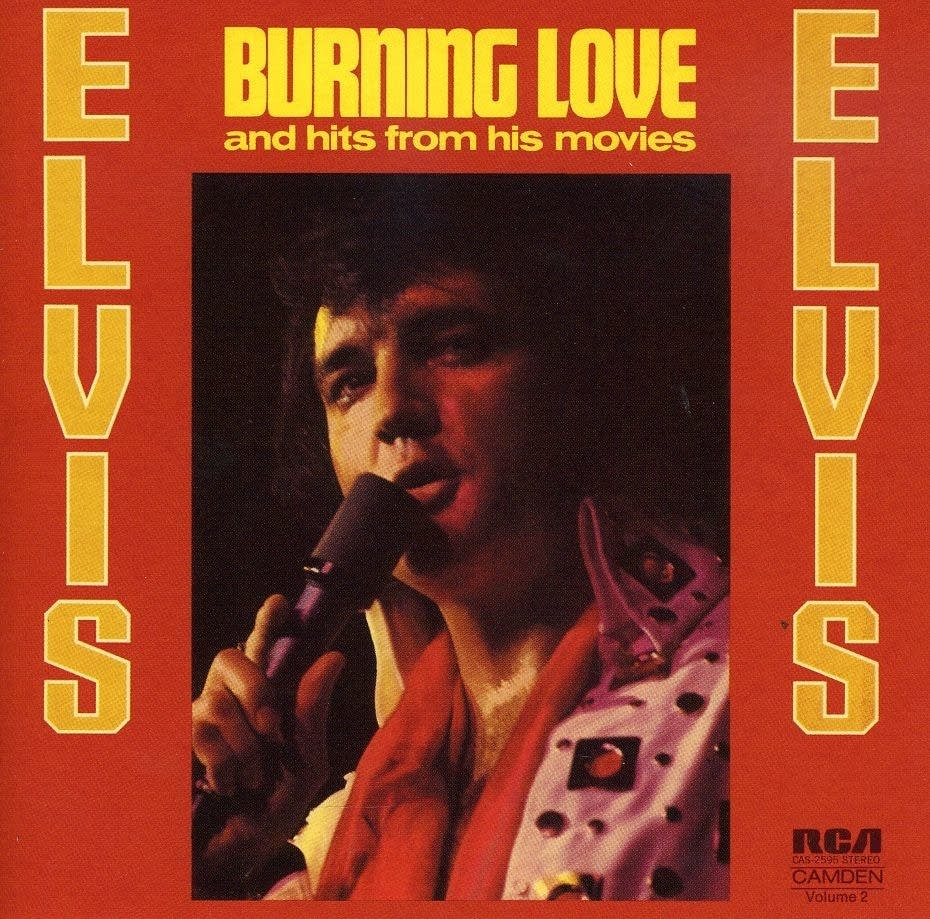 Elvis Burning Love cover art
