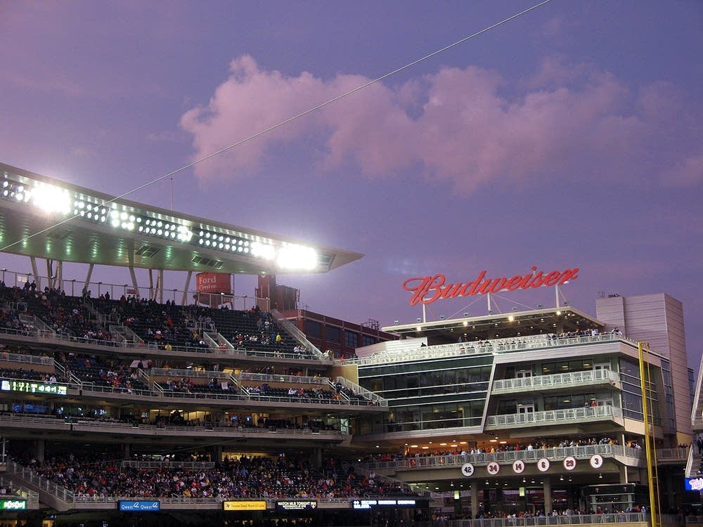Target Field at dusk