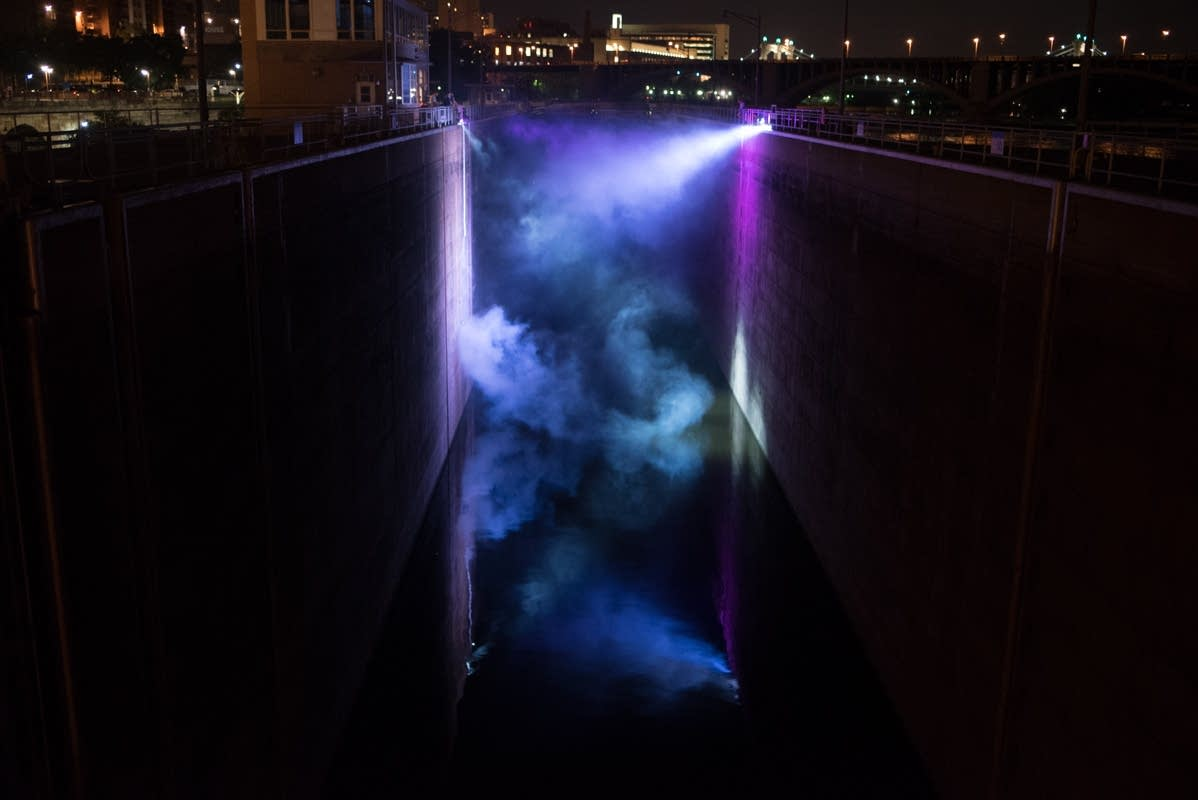 Aaron Dysart used data from lock-keeper logbooks to program a light show.
