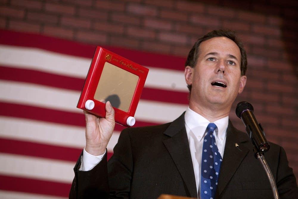 Rick Santorum campaigns in Wisconsin