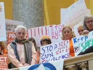 Hundreds of people concerned about gun violence gathered.