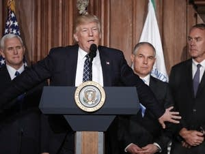 VP Pence, President Trump, EPA chief Pruitt, Interior Secretary Zinke