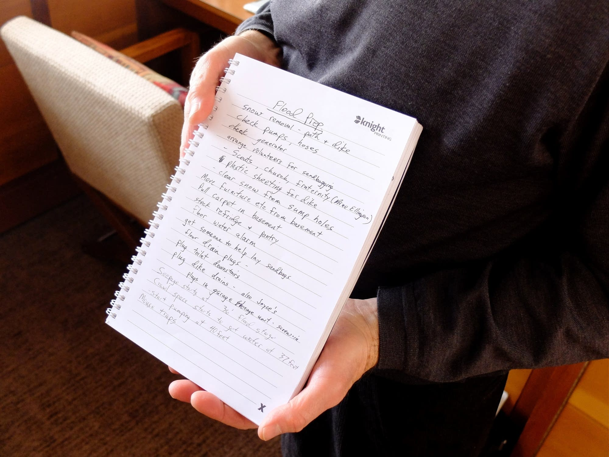 Fargo resident John Stern made a list of all the tasks.