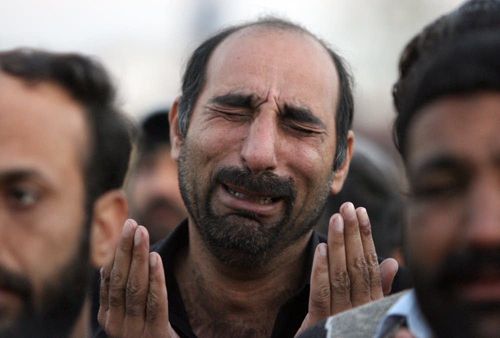 Bhutto supporter cries