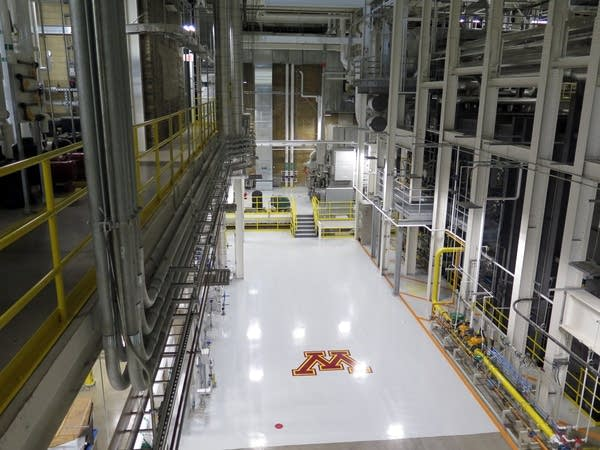 The floor of the University of Minnesota's new Main Energy Plant.