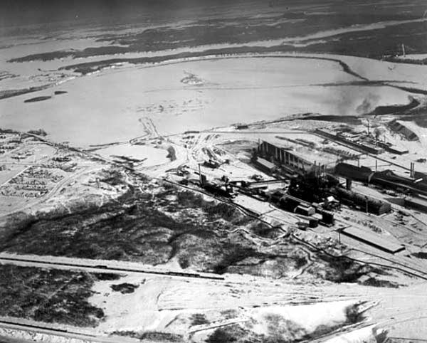 Aerial view of Morgan Park and the United States Steel Plant, Duluth, 1910