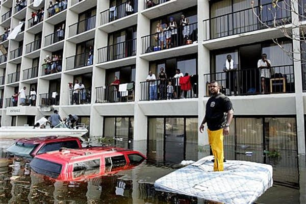 Katrina flood victims