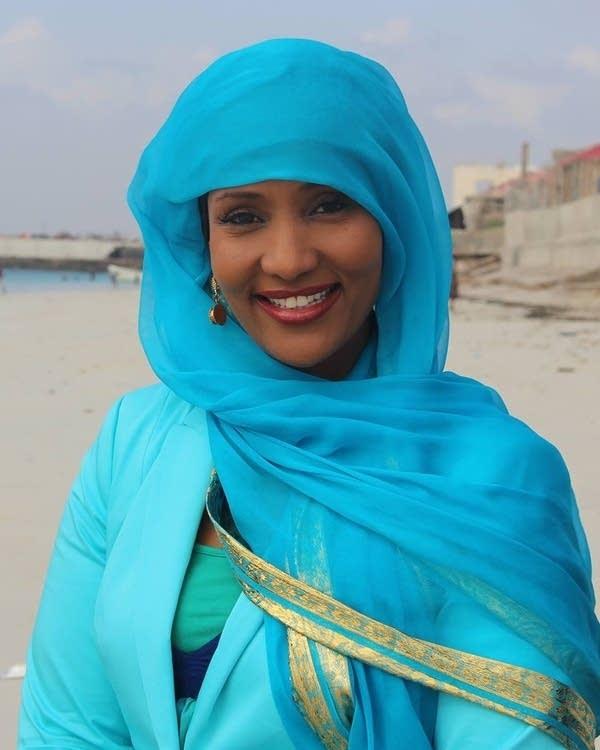 Somali-Canadian journalist Hodan Nalayeh in Mogadishu in October 2015.