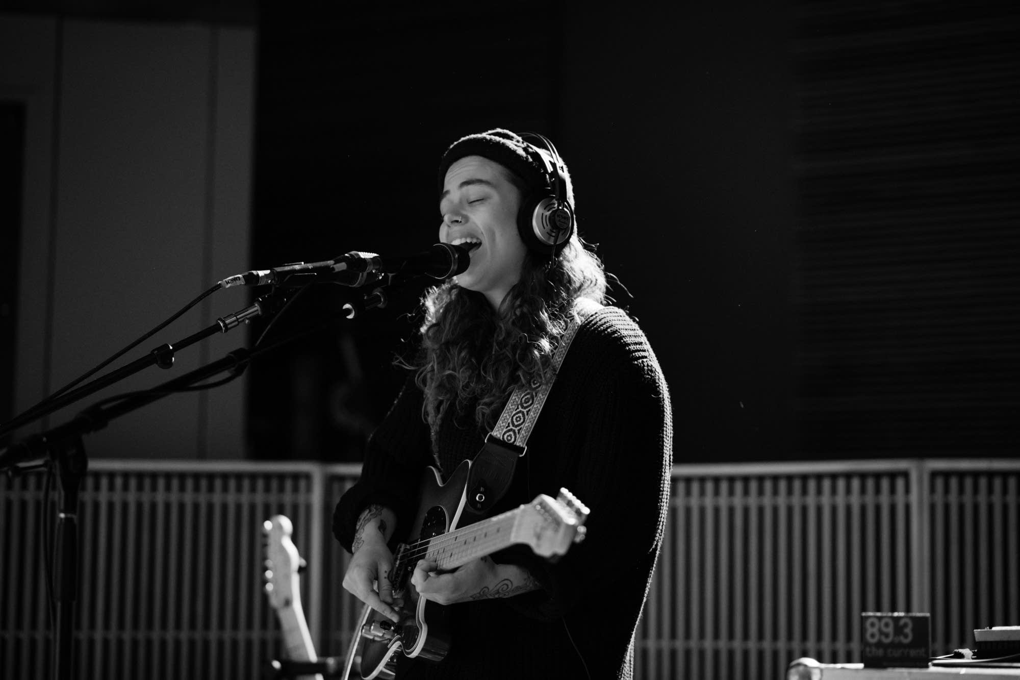 Tash Sultana performs in The Current studio