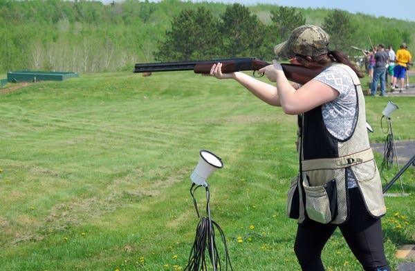 Hermantown senior Erin Flaig prepared to shoot.