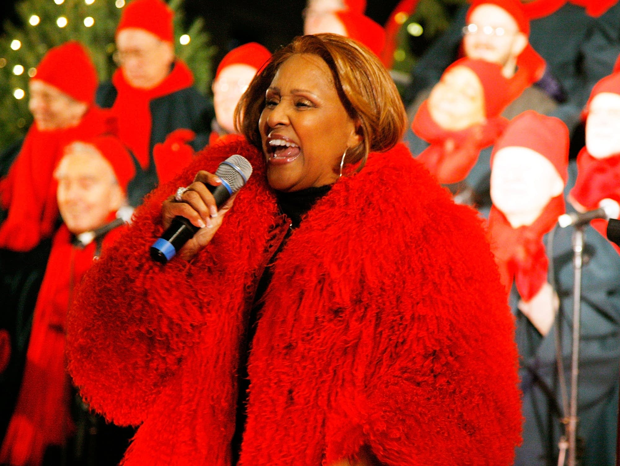 Darlene Love performs at a Christmas tree lighting in New York City, 2010.