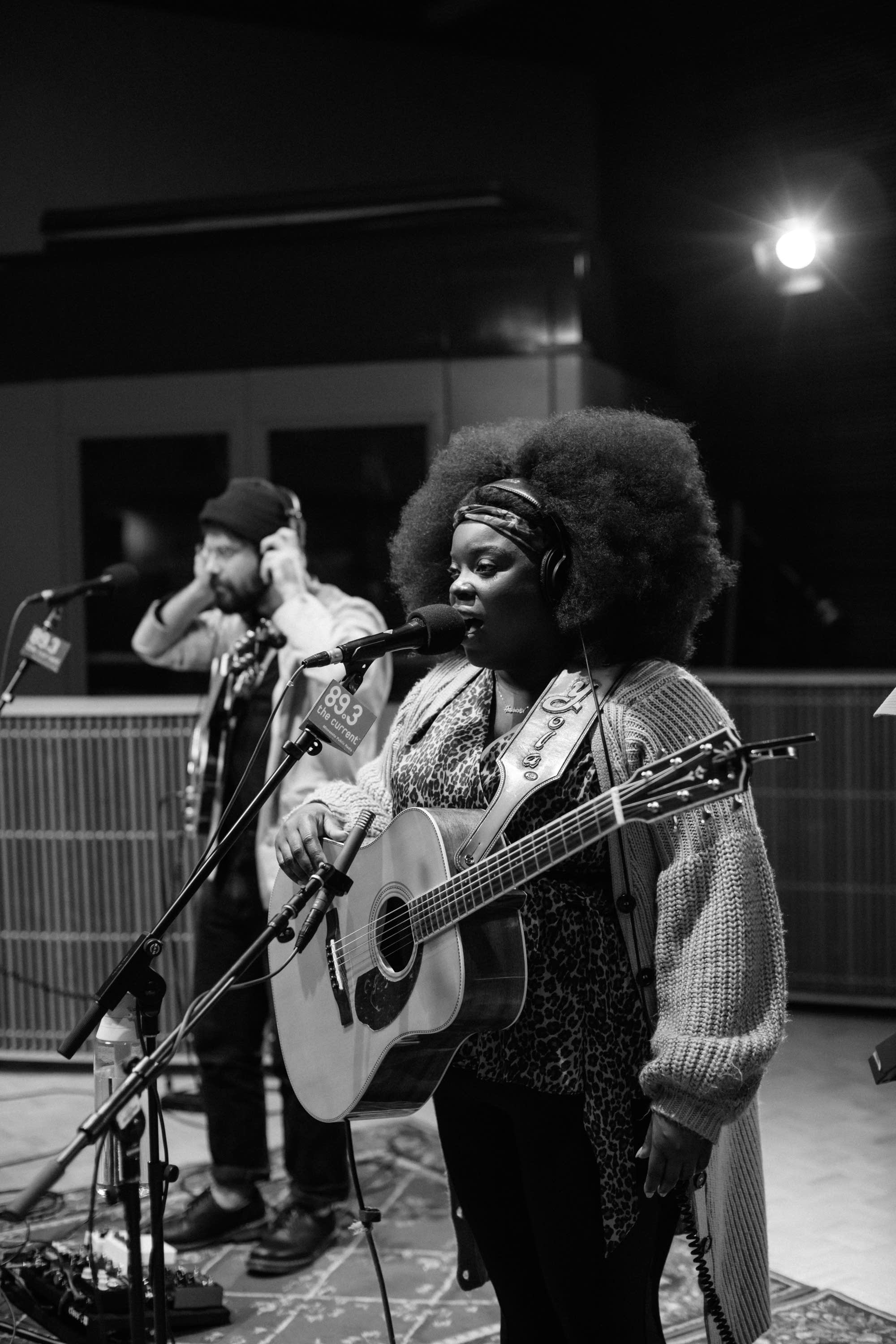 Yola performs in The Current studio