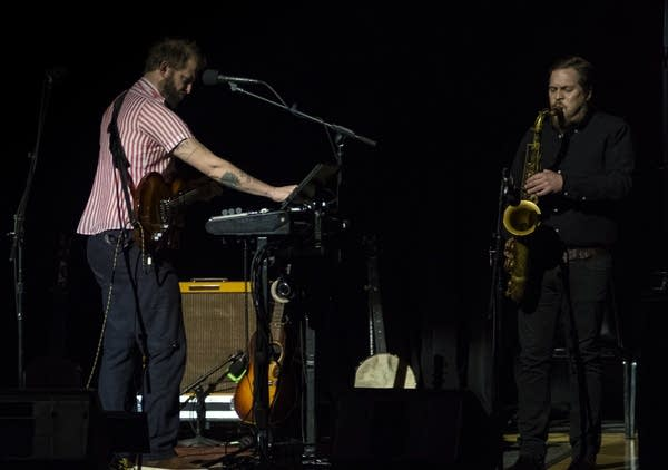 Justin Vernon and Mike Lewis of Bon Iver