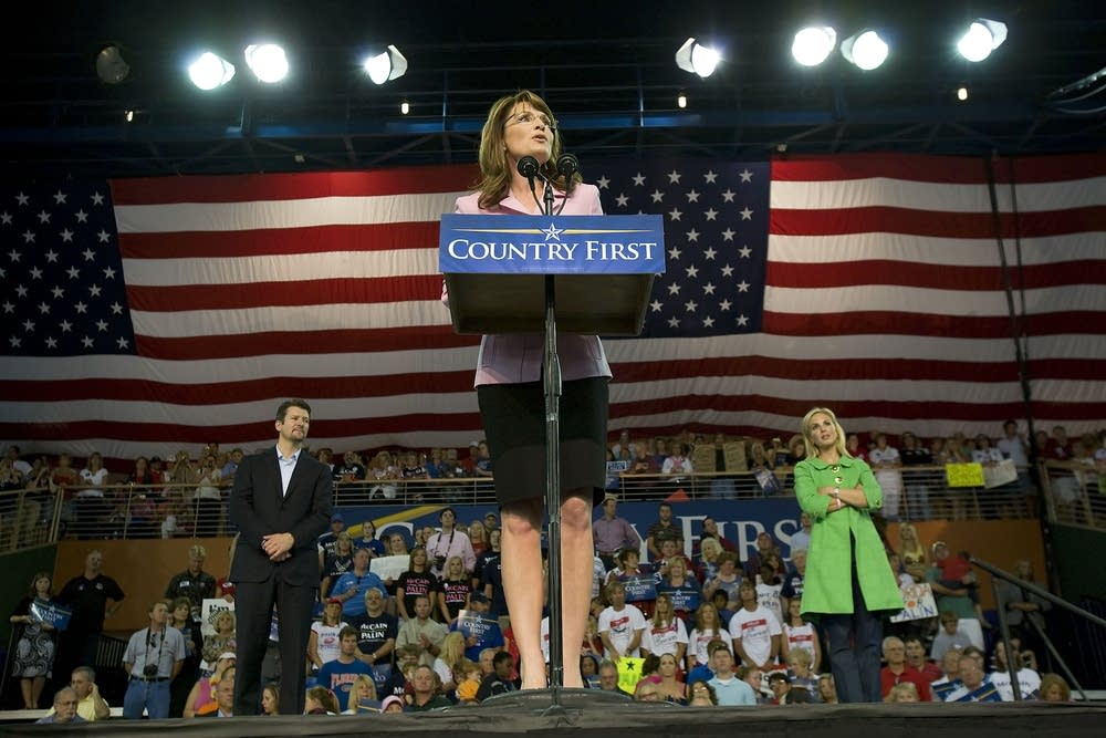 Governor Palin at a rally in Florida