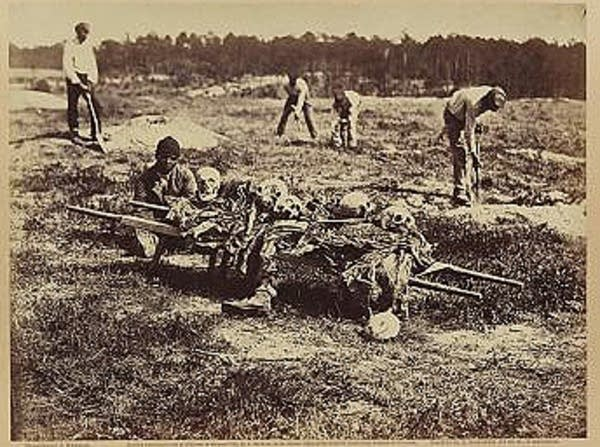 A burial party on the battle-field
