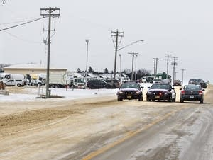 Dodge County authorities blocked the entrance to McNeilus Trucking.