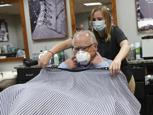Gov. Tim Walz gets his haircut