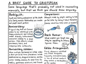 A Griefspeak cartoon that ran in the New York Times.