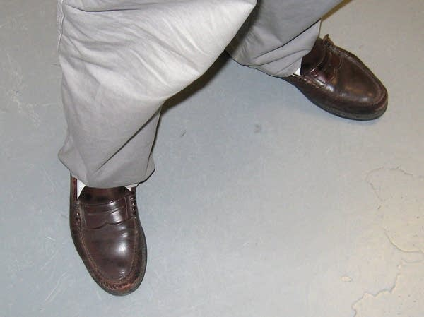 Rich Neumeister's shoes