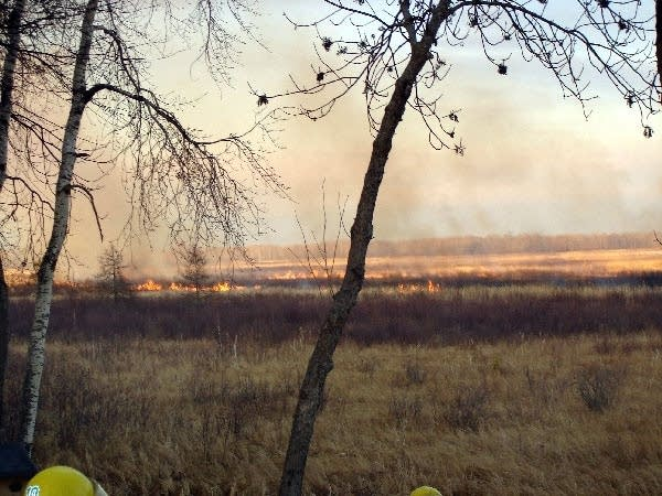 Brush fire near Leech Lake