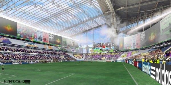 Soccer stadium image