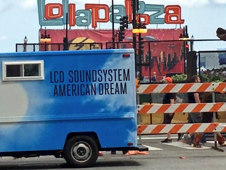 An ice cream truck previewing LCD Soundsystem's new album