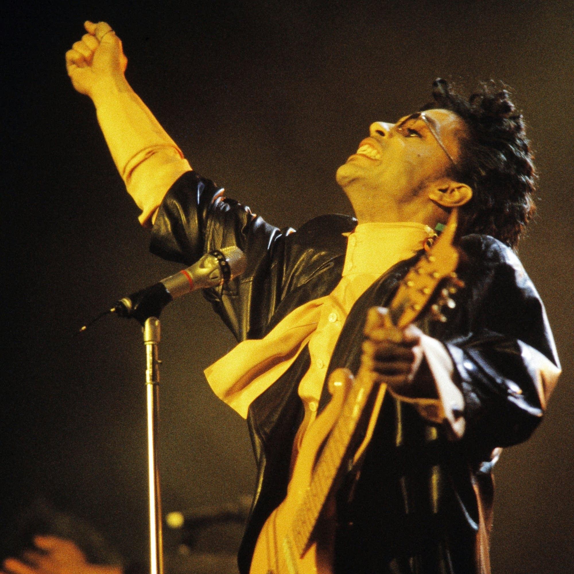 Prince performs in Paris, 1987.