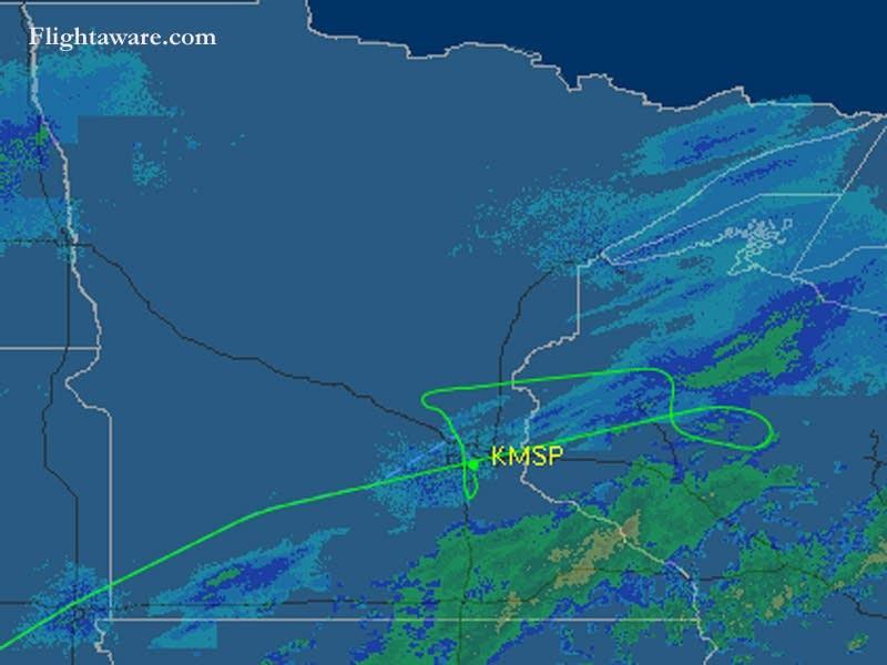 Northwest Airlines path