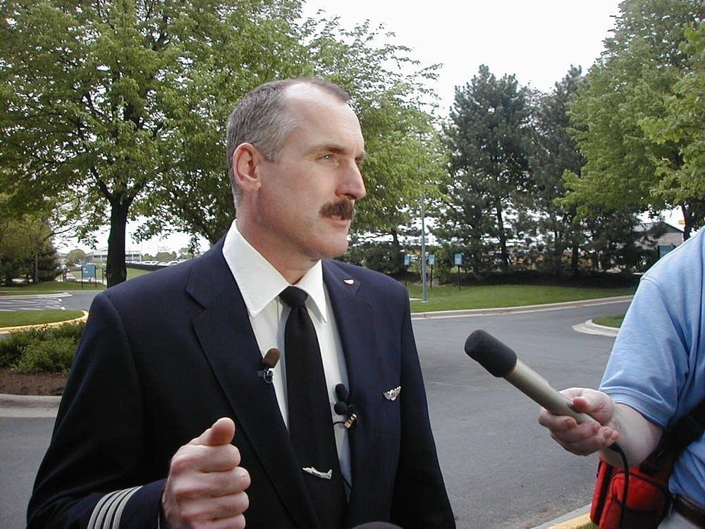 Mesaba pilots union chairman Tom Wychor