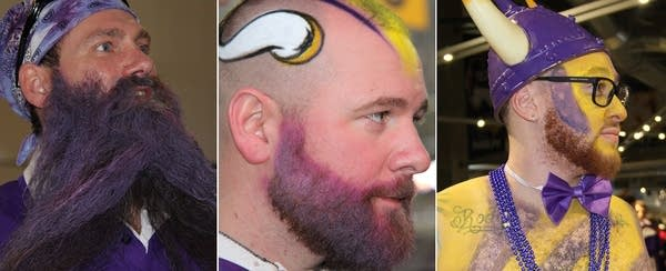 Vikings fans came to the game Sunday wearing their colors — on their skin.