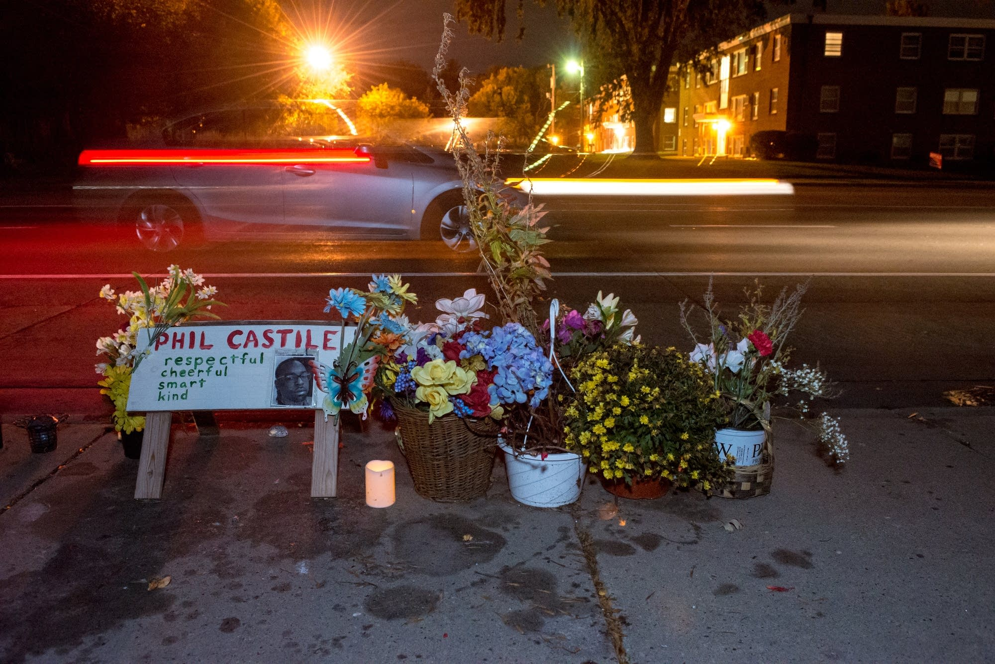 A makeshift memorial for Philando Castile