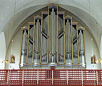 1987 Gronlunds organ at Luela Cathedral in Norrbotten, Sweden