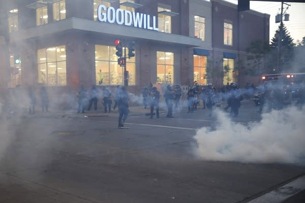 Authorities release tear gas Thursday in St. Paul