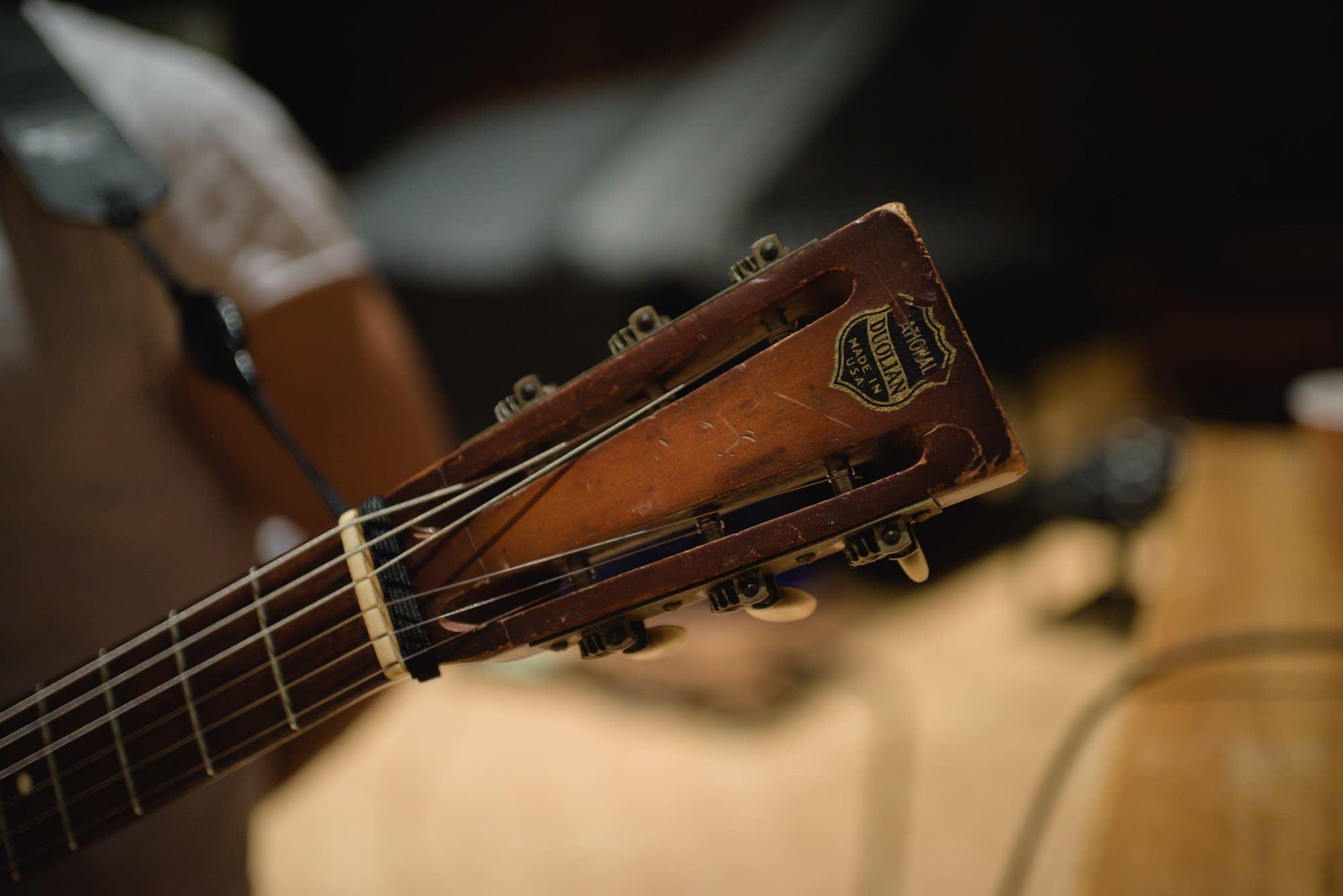 headstock of 1935 National Guitar