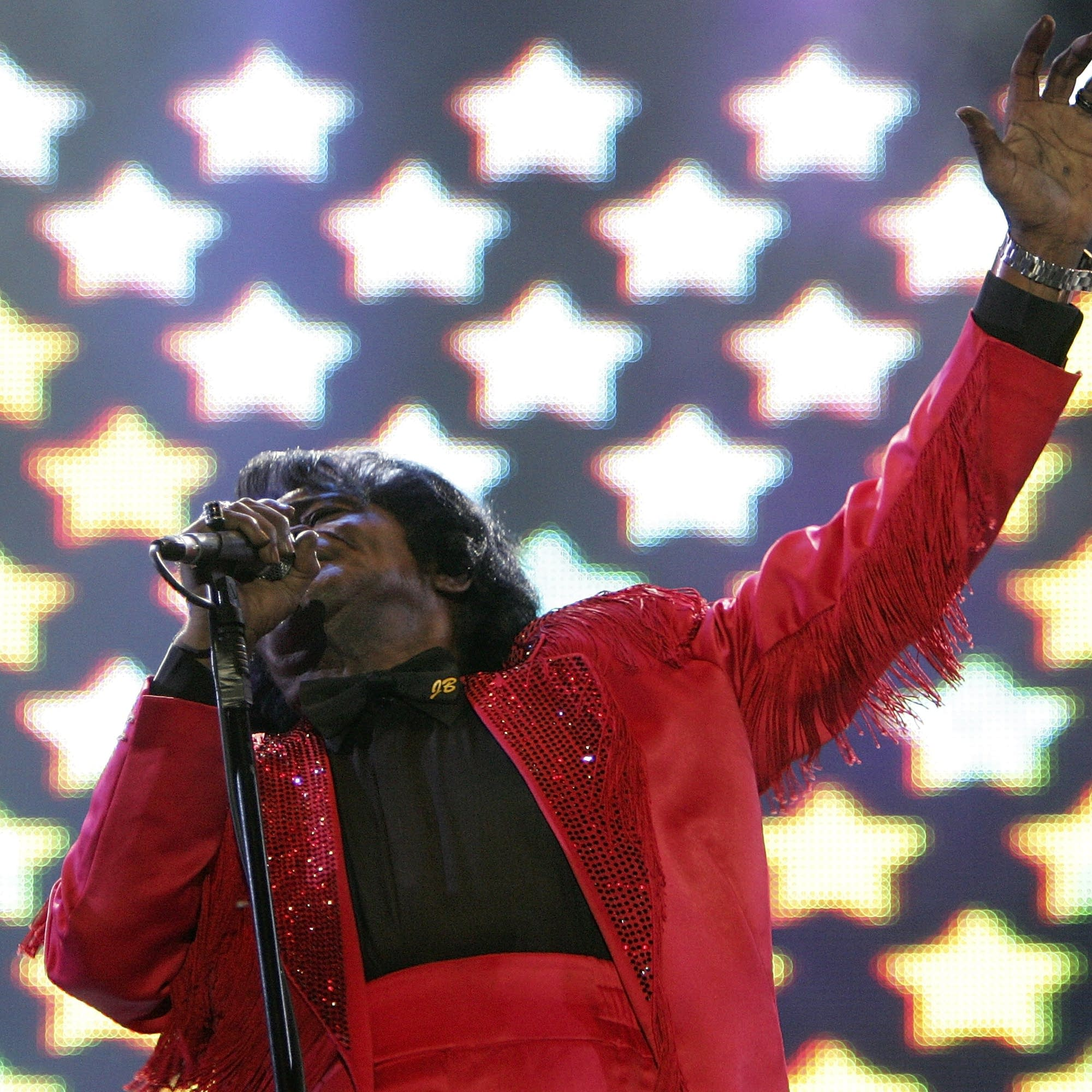 James Brown performs in Edinburgh, 2005.