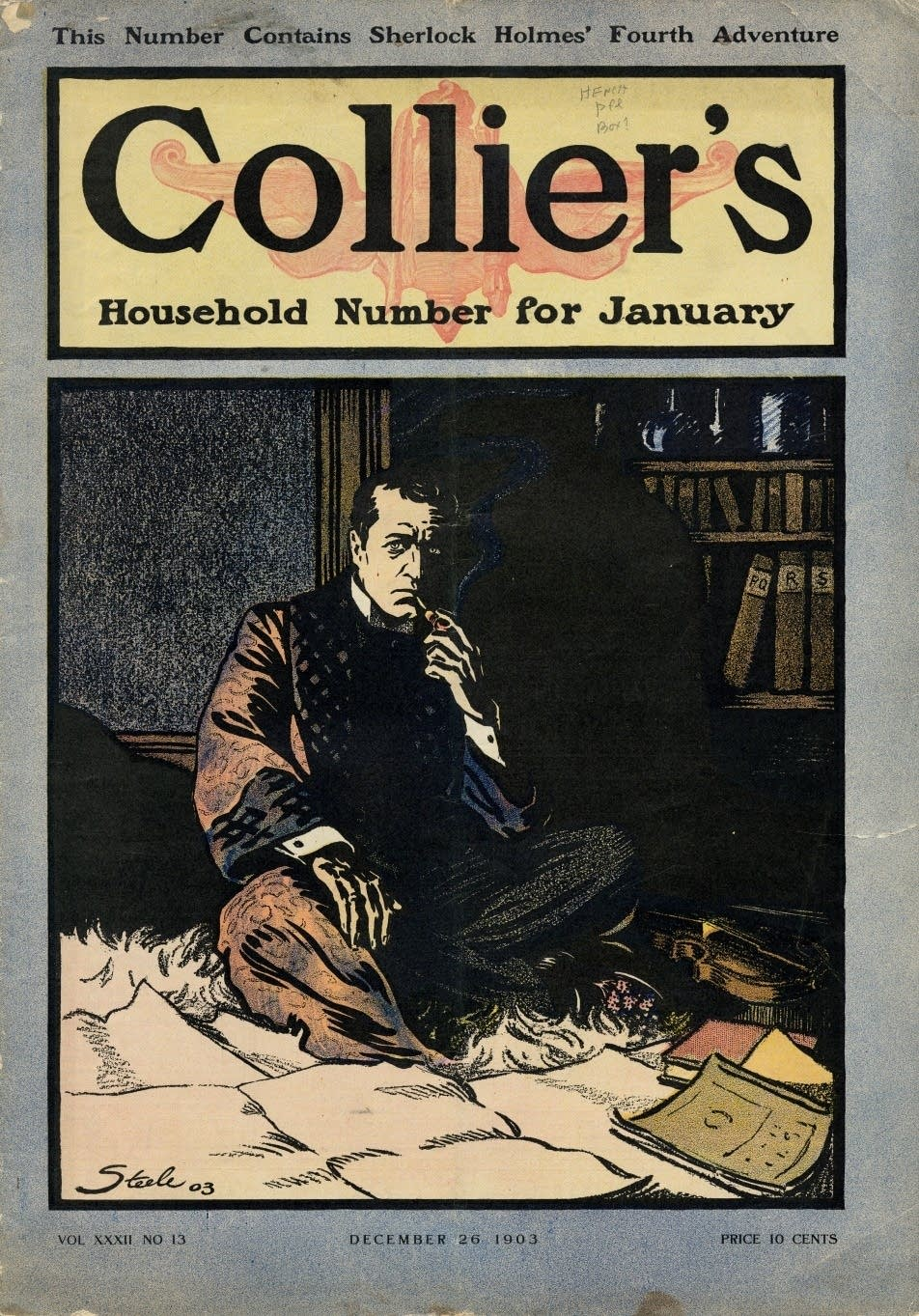 Sherlock Holmes on the cover of Collier's, 1903