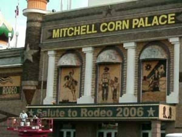 Workers at the Corn Palace