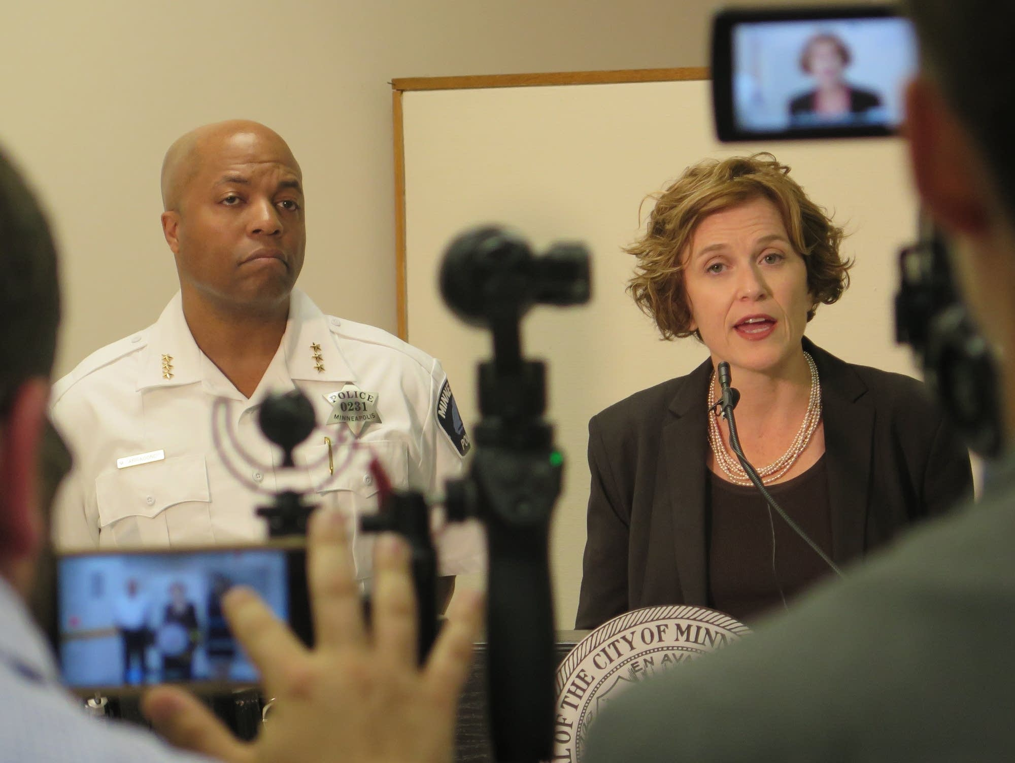 Mayor Hodges, chief Arradondo