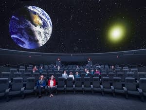 The planetarium at the University of Minnesota's Bell Museum